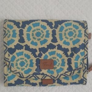 Fossil Cosmetic Toiletries Travel Bag 3 sections